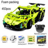 2.4G RC Car Remote Control Blocks Building Kit DIY Puzzle Assembley Radio Controlled Cars with Battery 10 minutes playing