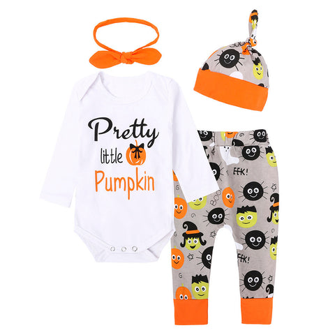Halloween 4Pcs Baby Set Infant/Baby/Boys/Girls Unisex Baby Clothes