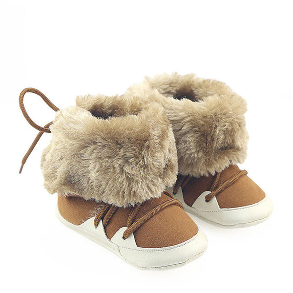 2017 Newborn Baby Boys Girls Shoes Winter Prewalkers Soft Sole Boots