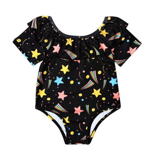 one piece suit Bikini star swimwear children Swimwear Girls Swimsuit Bathing Suits