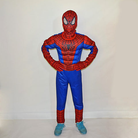 Child Boy Amazing Spiderman muscle Muscle Fantasy Costume