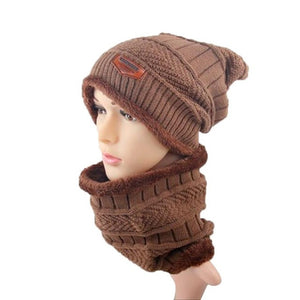 2 pcs Unisex Beanie Hats Women Men Winter Warm Knitted Hat