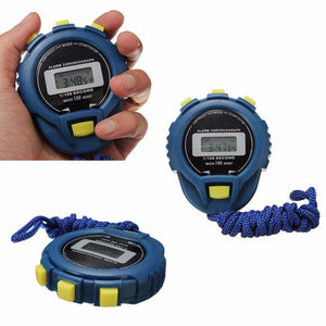 Digital Timer Stopwatch Sport Counter Odometer Blue Watch Alarm
