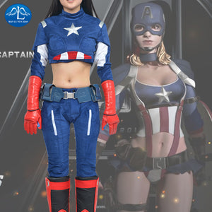 New Arrival Captain America Costume Women's Version Superhero Costume