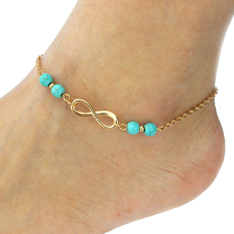Fashion Womens Beach Barefoot Toe Chain Link Foot Anklet Chain Jewelry