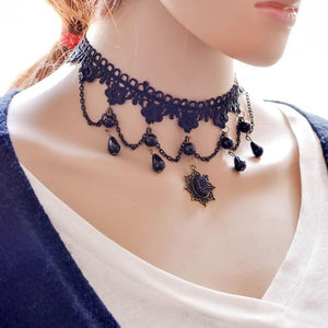 Handmade Gothic Retro Vintage Lace Collar Choker Necklace