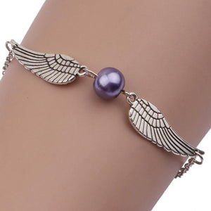 Women Infinity Retro Pearl Angel Wings Jewelry Dove Peace Bracelet