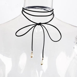 Suede Necklace Women Sexy Black Collar Necklace