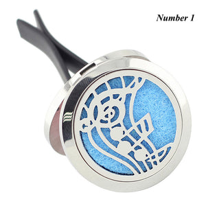 Car Perfume Locket Vent Clip 30mm 316L Stainless Steel Round Shape Magnetics