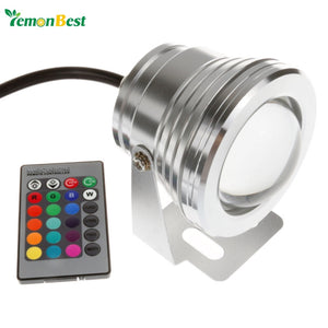 10W 12V Led RGB Underwater Light Waterproof IP68 Fountain Swimming Pool Lamp