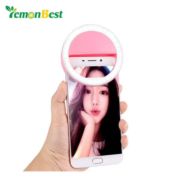 36 LED Smartphone Selfie Light Ring Fill Lights Battery Operated Clip on Phone