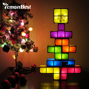 Night Light Desk Lamp Game Style Three-dimensional Stackable LED Light