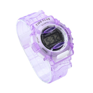 Boys Girls Children Students Waterproof Digital Wrist Sport Watch