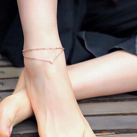 Gold Plated Ankle Chain Anklet Bracelet Foot Jewelry