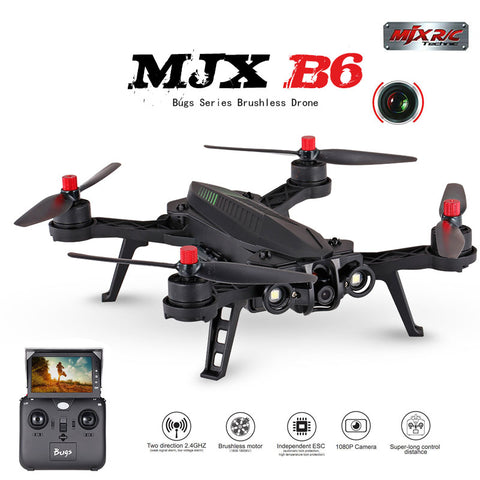MJX B6 Bugs 6 RC Quadrocopter Drone with 1600kv Brushless motor HD Wifi Camera real-time transmission 14 min flying time 20KM/H