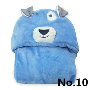 0-2 Years Old Animal Shapes Flannel Cloak