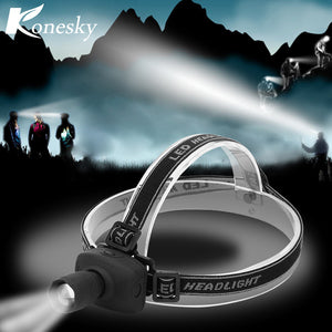 Super Bright Mini LED Fishing Headlamp Zoomable 3 Modes Energy Saving Outdoor Sports Camping Headlight