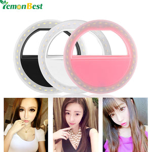 36-LED Smartphone Selfie Light Ring Fill Lights Battery Operated Clip on Phone