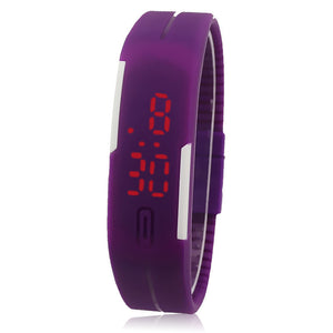 Ultra Thin Men Girl Sports Silicone Digital LED Sports Wrist Watch