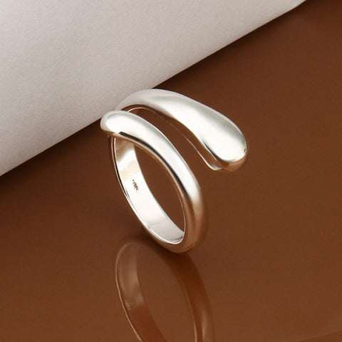 Fashion Chic Design Finger Opening Adjustable Womens Girls Ring Gift