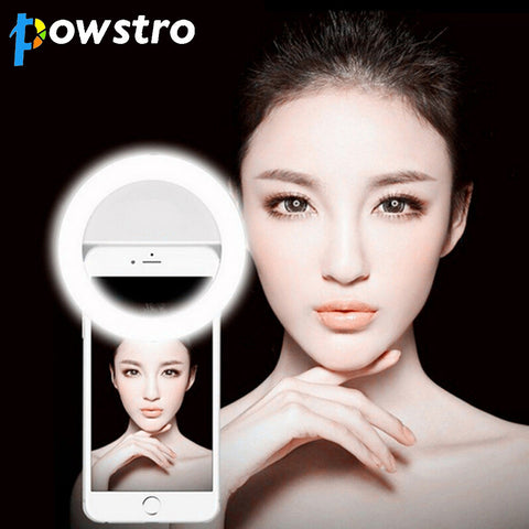 Selfie LED Light Up Flash Light Photography Luminous Ring 36pcs Clip on All Mobile Phone