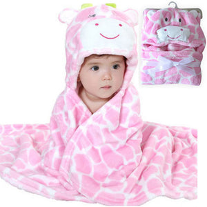 Hooded animal baby blanket newborn / baby bath towel /baby bathrobe cloak