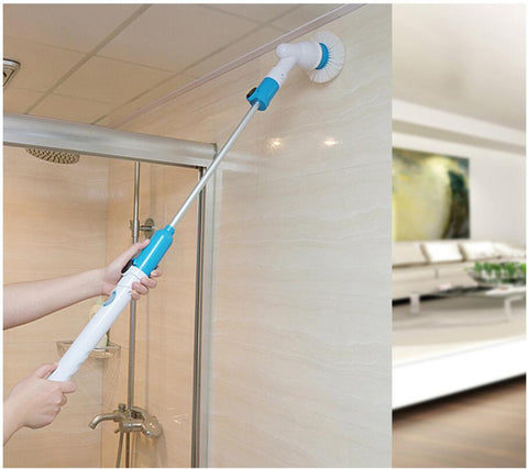 Power Floor Cleaner Brush Mop Scrubs Clean Spin Turbo Scrub Bathtub Brush