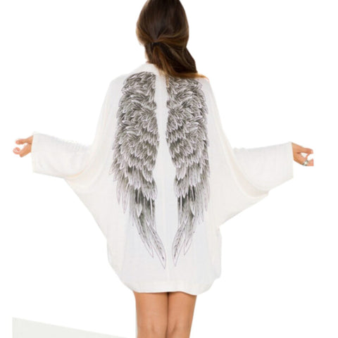 Eagle Wing Print Knitwear Loose Casual Outwear Sweater