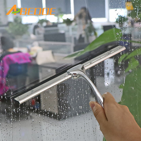 Home Window Glass Tool Stainless Steel Cleaning Squeegee Mirror Screen Brush