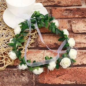 Flower Crown Headband Floral Hairband Festival Wedding Accessories Headdress