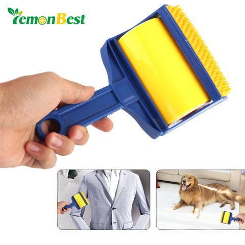 Roller Brush Sticky Cleaner Clothes Carpet Hair Lint Fur Pet Hair Remover Brush