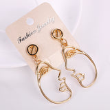 2017 New Retro Fashion Pierced People Face Hand Drop Earring Dangle Earrings for Women Statement Jewelry Gifts
