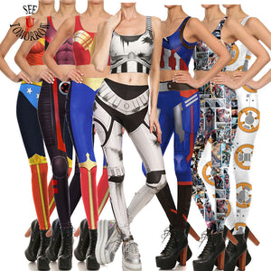 Sexy Women Vest and Pants Outfits Anime Game Star Wars Superhero Cosplay Costumes Halloween