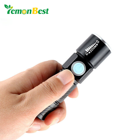 Portable Mini USB Light Rechargeable 350LM LED Flashlight Outdoor