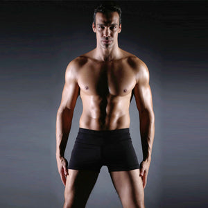 Men's Square Leg Beachwear Sexy Swimwear Shorts Surf Swimsuit Swim Trunks