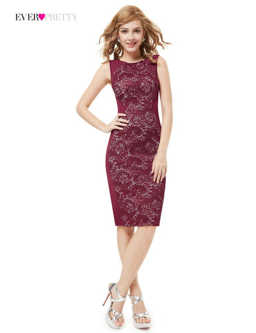 Lace Elegant Vintage Hot Sale Modern Sleeveless Straight Cocktail Dress for Women