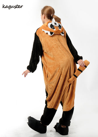 Romper Nightwear Adult Cartoon Animal Raccoon Unisex Onesie Red Panda Pajamas Costumes Sleepwear