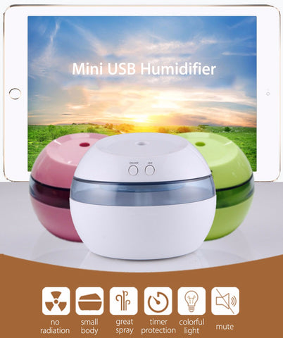 Mini USB Air Humidifier Aromatherapy Machine LED Light Aroma Diffuser