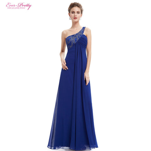 One Shoulder Open Back Formal Evening Dresses