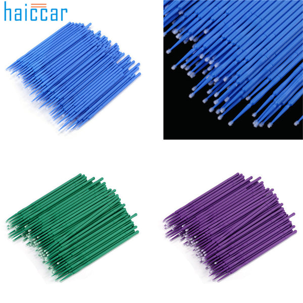 100 Pcs Plastic Disposable Eyelash Cleaning Stick Microblading Micro Brushes Swab Lint Free