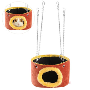 Guinea Pig Rat Small Animals Snuggle Hammock Hanging Snuggle Cave Hut - Size L
