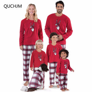 Family Matching Pajamas Christmas Family Matching Deer Pyjamas Set Xmas Set New Year's Costumes Adult Kids Nightwear Sleepwear