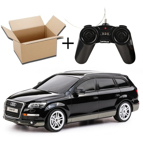 1:24 Remote Control Car Kids Toys RC Car Lit Lights Radio Controlled Cars Boys Gifts Black White Q7 Without Retail Box 27300