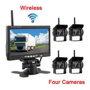 "Wireless Backup Cameras Waterproof  7"" Rear RV Truck Bus Parking"