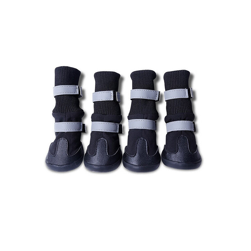 4pcs Waterproof Pet Dog Boots for Medium to Large Dogs