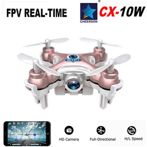Cheerson CX-10 CX-10W Mini RC Quadcopter Drone With Camera Wifi FPV No Remote Controller UFO Helicopters RTF Toys