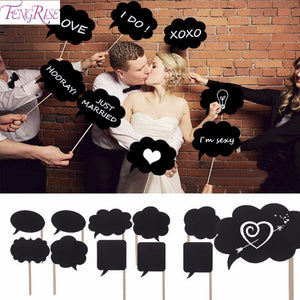 10pcs Photo Booth Props Wedding Decoration Mini Chalkboard Wedding Signs