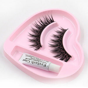 1 pair Natural Long Thick False Eyelashes