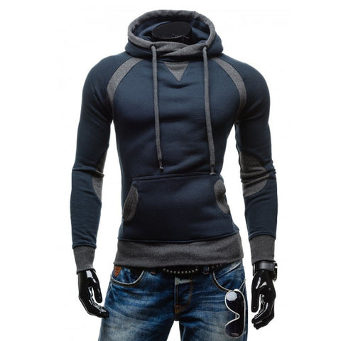 Men Winter Slim Hoodie Warm Pullover Sweatshirt Hooded Coat Outwear