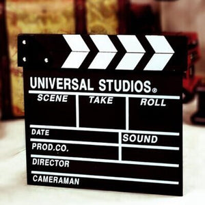 Clapperboard Photobooth Props Director Movie Clapper Shoot Video Cut Prop